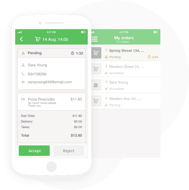 Order systeem werkt eenvoudig via een applicatie