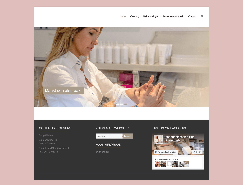 Body Wishes website door Jella media in Geldrop