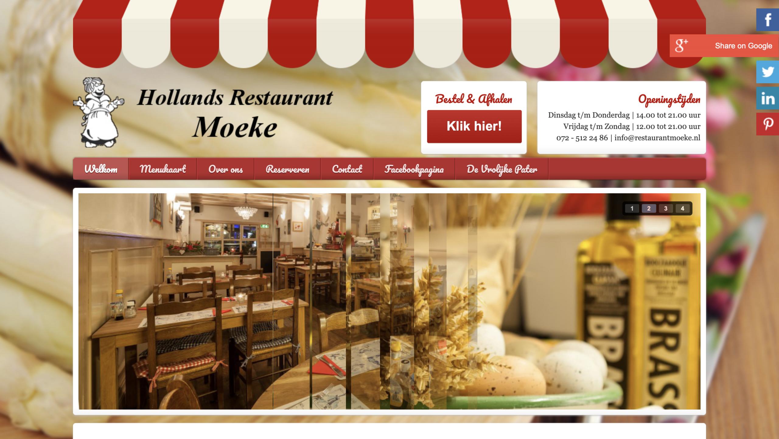 Restaurant Moeke met een order systeem